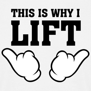 This Is Why I Lift (Comic Hands) T-shirts - Mannen T-shirt