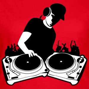 DJ with Turntables,DJ, concert, Mix, Record, Turnt T-Shirts - Women's T-Shirt