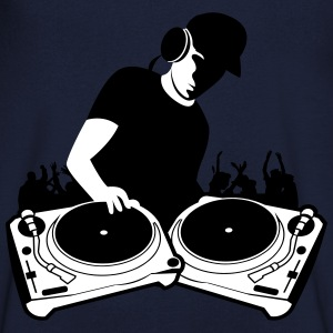 DJ with Turntables,DJ, concert, Mix, Record, Turnt T-Shirts - Men's V-Neck T-Shirt