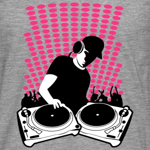 DJ with Turntables and background Long sleeve shirts - Men's Premium Longsleeve Shirt