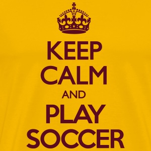 Keep Calm and Play Soccer T-Shirts - Männer Premium T-Shirt