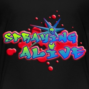 spraying_alive_c_012014 T-Shirts - Kinder Premium T-Shirt