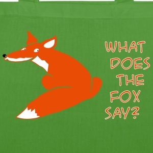 fuchs what does the fox say Taschen & Rucksäcke - Bio-Stoffbeutel