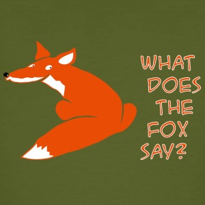 fuchs what does the fox say T-Shirts - Männer Bio-T-Shirt