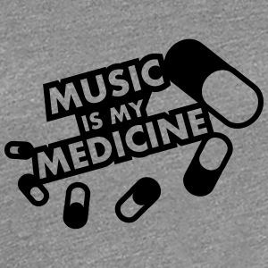 Music Is My Medicine Design T-skjorter - Premium T-skjorte for kvinner