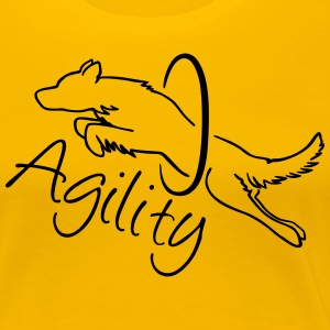 Agility Dog with hoop T-Shirts - Frauen Premium T-Shirt