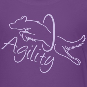 Agility Dog with hoop T-Shirts - Teenager Premium T-Shirt