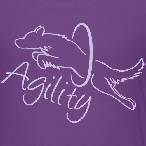 Agility Dog with hoop