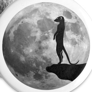 suricate lune Badges - Badge grand 56 mm