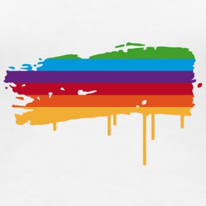 A rainbow flag as a graffiti T-Shirts - Women's Premium T-Shirt