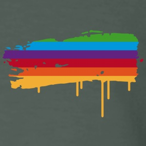 A rainbow flag as a graffiti T-Shirts - Men's Organic T-shirt