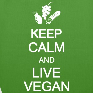 keep calm live vegan vegetarian vegetables Bags & backpacks - EarthPositive Tote Bag