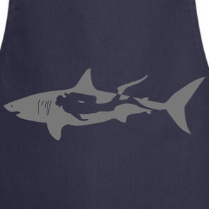 scuba diving diver shark jaws whale dolphin  Aprons - Cooking Apron