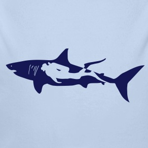 scuba diving diver shark jaws whale dolphin Hoodies - Longlseeve Baby Bodysuit