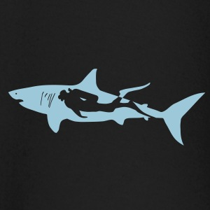 scuba diving diver shark jaws whale dolphin Long Sleeve Shirts - Baby Long Sleeve T-Shirt