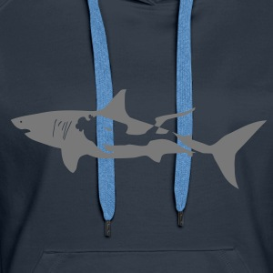scuba diving diver shark jaws whale dolphin Hoodies & Sweatshirts - Women's Premium Hoodie