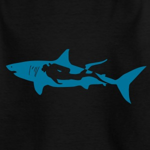 scuba diving diver shark jaws whale dolphin Shirts - Teenage T-shirt