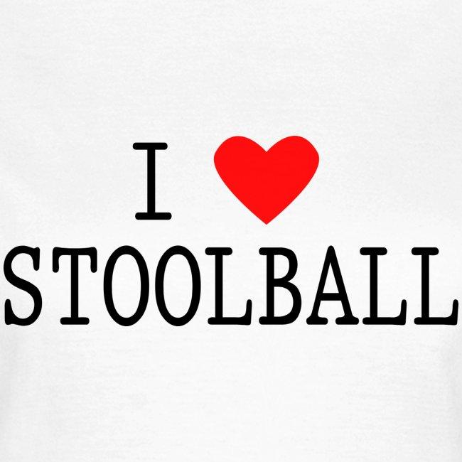 I Love Stoolball Women's T-Shirt