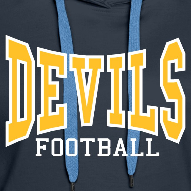 Devils Football Women's Navy Hoodie