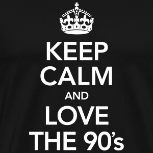 Keep Calm And Love The 90´s T-shirts - Mannen Premium T-shirt