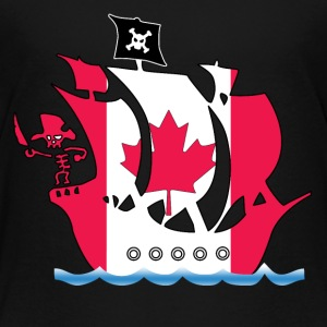 Pirateship canada flag Shirts - Kids' Premium T-Shirt