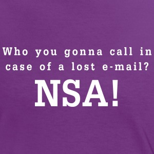 who you gonna call in case of a lost email - nsa T-Shirts - Frauen Kontrast-T-Shirt