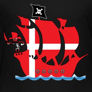 Pirate ship danmark flag Shirts - Kids' Premium T-Shirt