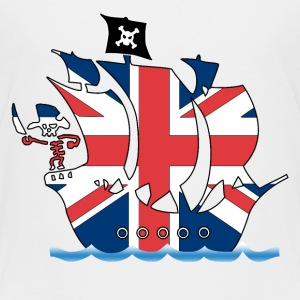 Pirateship uk united kingdom flag Shirts - Kids' Premium T-Shirt