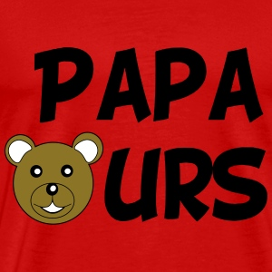 Papa ours Tee shirts - T-shirt Premium Homme