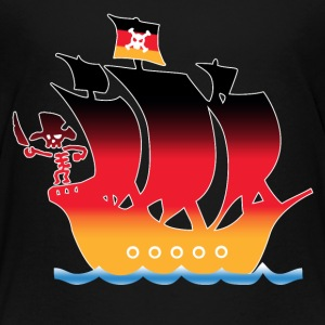 Pirateship germany flag Shirts - Kids' Premium T-Shirt