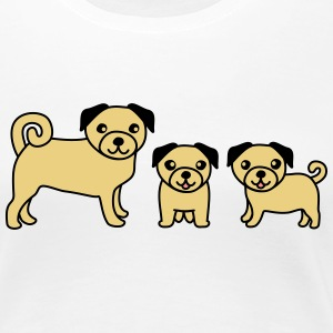 Pug Family T-Shirts - Frauen Premium T-Shirt