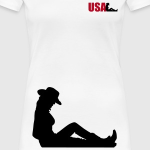 usa woman T-skjorter - Premium T-skjorte for kvinner