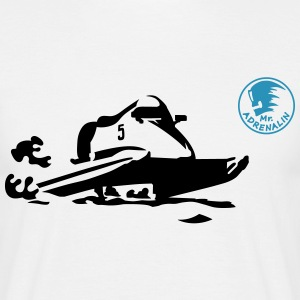 motorboot T-shirts - Herre-T-shirt