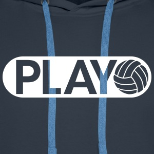 Play Volleyball Sweat-shirts - Sweat-shirt à capuche Premium pour hommes