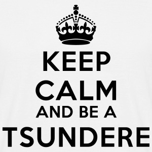 Keep calm and be a tsundere Koszulki - Koszulka męska