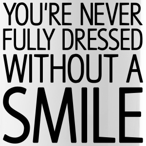 You're never fully dressed without a SMILE Bottles & Mugs - Water Bottle