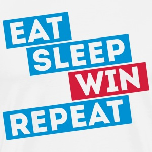 eat sleep win repeat winter sport football jeux Tee shirts - T-shirt Premium Homme