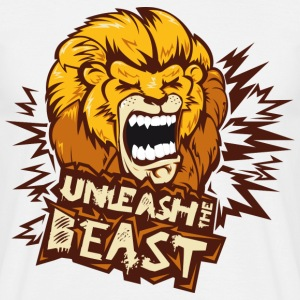 Blanc Unleash The Beast Tee shirts - T-shirt Homme