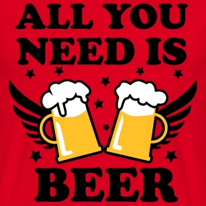 04 all you need is beer alcohol 3c love T-Shirt - Männer T-Shirt