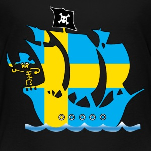 Pirateship sweden flag Shirts - Kids' Premium T-Shirt