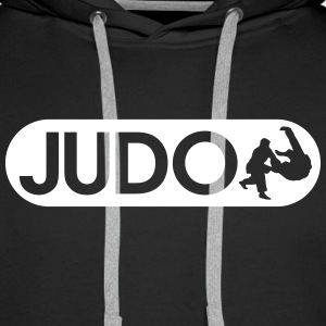 Judo Sweat-shirts - Sweat-shirt à capuche Premium pour hommes