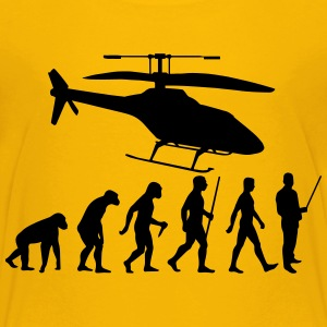 Evolution Hubschrauber - Kinder Premium T-Shirt