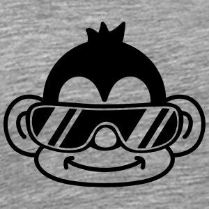 Cool Monkey Face T-Shirts - Men's Premium T-Shirt