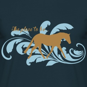 the_place_to be_Pferd/Horse T-Shirts - Männer T-Shirt