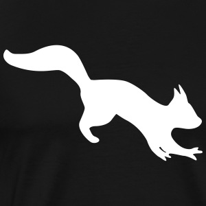 bouncing agile squirrel chipmunk silhouette T-Shirts - Men's Premium T-Shirt
