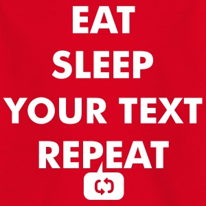 Fun eat sleep - insert your own text here - repeat Shirts - Teenage T-shirt