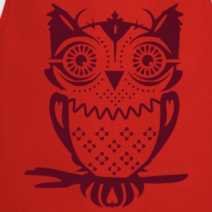 An owl sitting on a branch  Aprons - Cooking Apron