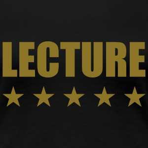Lecture Tee shirts - T-shirt Premium Femme