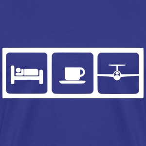 sleep coffee gliding T-Shirts - Männer Premium T-Shirt