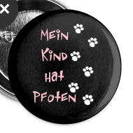 Motiv ~ Mein Kind hat Pfoten BUTTON